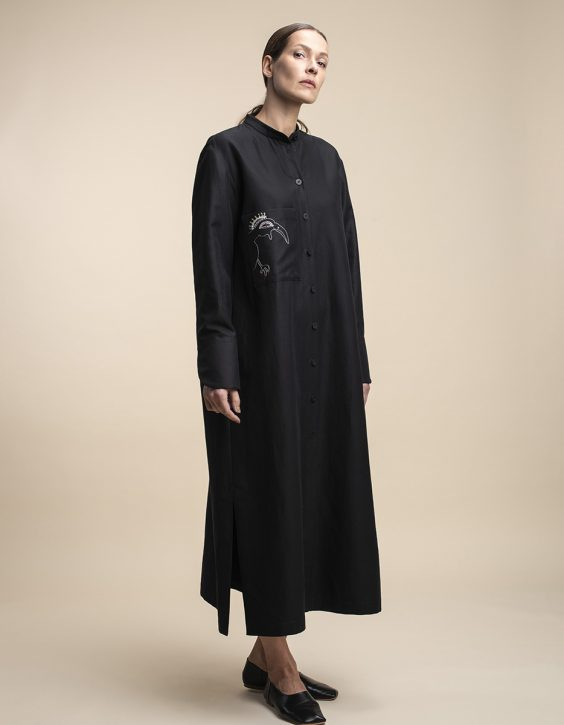 Pohjanheimo linen cotton shirt dress CARO