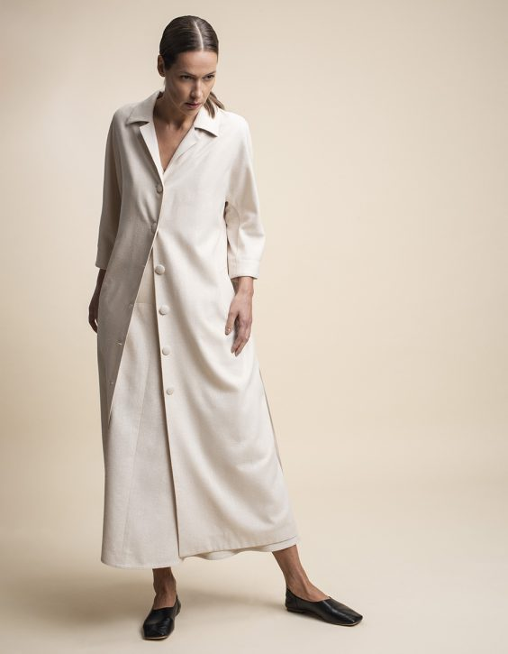 Pohjanheimo silk dress coat REIA