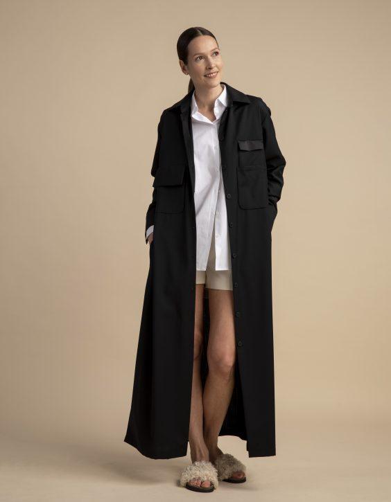 Pohjanheimo fine wool shirt dress piper